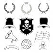 Stock Vector: Set of vector football elements for stickers