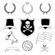 Set of vector football elements for stickers — Stock Vector