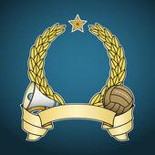 Vector football emblem — Stock Vector