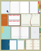 Collection of vector notebooks — Stock Vector