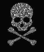 Skull of skulls — Stock Vector