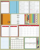 Collection of notebooks — Stock Vector