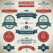 Vintage labels and ribbons set. Vector design elements. — Stock Vector #25446883