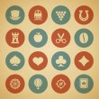 Vintage retro icons set. Vector design elements. — ベクター素材ストック