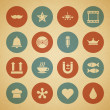 Royalty-Free Stock Vectorafbeeldingen: Vintage retro icons set. Vector design elements.
