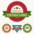 Vintage labels and ribbons set. Vector design elements. — Imagens vectoriais em stock