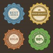 Vintage labels set. Vector design elements. — Imagen vectorial