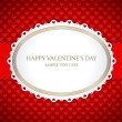 Valentines day vintage card vector background eps 10 — Imagen vectorial