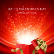 Gift present with confetti hearts Valentine's day vector background eps 10 - Векторная иллюстрация