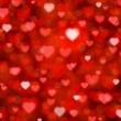 Shiny hearts bokeh light Valentine's day background eps 10 — Imagen vectorial