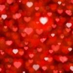 Shiny hearts bokeh light Valentine's day background eps 10 — Stock Vector