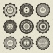 Vintage style retro emblem label collection. Vector design elements. — Imagen vectorial