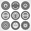Vintage style retro emblem label big collection. Vector design elements. — Stock Vector #25447753