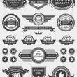 Vintage style retro emblem label collection. Vector design elements. — Векторная иллюстрация