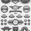 Vintage style retro emblem label collection. Vector design elements. — Stockvektor