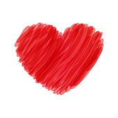 Rood hart — Stockvector