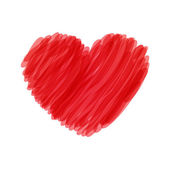 红色的心 — 图库矢量图片