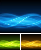Abstract smooth light lines vector backgrounds set. Eps 10. — Stock Vector