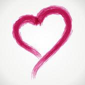 Hand drawn heart shape. Vector design element eps 10. — Stock Vector
