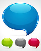 Abstract glossy speech bubbles vector backgrounds set eps 10. — Stock Vector