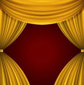 Theater curtain vector background eps 10. — Wektor stockowy