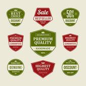 Vintage rótulos ou emblemas conjunto de estilo retro. vetor de elementos de design. — Vetorial Stock