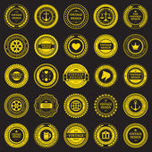 Vintage style retro emblem label collection. Vector design elements. — Vecteur