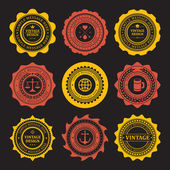 Vintage style retro emblem label collection. Vector design elements. — Vettoriale Stock