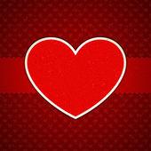 Cuore da carta san valentino carta vettoriale eps di sfondo 10 — Vettoriale Stock