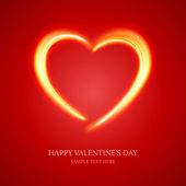Burn heart shape flame fire vector background eps 10 — Stock Vector