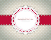 Valentines day vintage card vector background eps 10 — Stock Vector