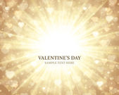 Shiny hearts bokeh light Valentine's day background eps 10 — Cтоковый вектор