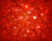 Shiny hearts bokeh light Valentine's day background eps 10 — Stock Vector
