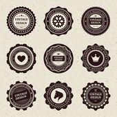 Collezione di label emblema retrò stile vintage. elementi di disegno vettoriale. — Vettoriale Stock