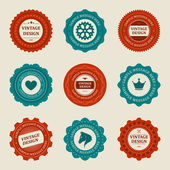 Vintage style retro emblem label collection. Vector design elements. — Stock Vector