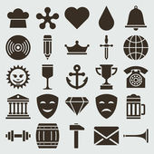 Vintage retro icons set. Vector design elements. — Stock Vector