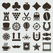 Vintage retro icons set. Vector design elements. — Stok Vektör