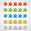 Royalty-Free Stock Vector Image: Web site rating stars vector design elements set