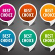 Retro speech bubbles set and best choice message vector illustration Eps 10. — Vetorial Stock