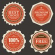 Vintage labels collection retro style set. Vector design — Imagens vectoriais em stock