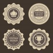 Vintage labels set. Vector design elements. — Stock Vector #25451081