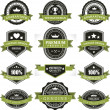 Vintage labels and ribbons set. Vector design elements. — Vettoriali Stock