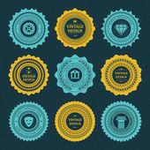 Vintage style retro emblem label collection. Vector design elements. — Stock Vector