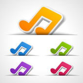 Web site music notes vector design elements set — Wektor stockowy
