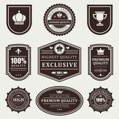 Vintage labels set. Vector design elements. — Stock Vector
