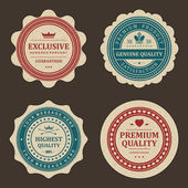 Vintage labels set. Vector design elements. — Vector de stock