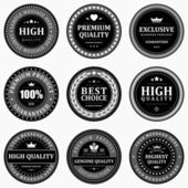 Vintage labels set. Vector design elements. — Wektor stockowy