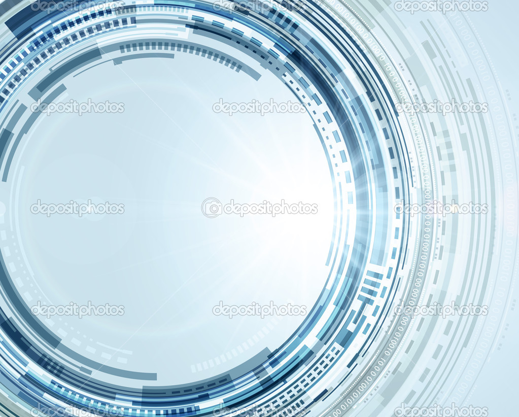 Abstract Technology Background With Light Effect: Abstract Technology Circles And Light Effects Vector