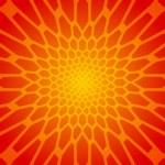 Abstract orange honeycomb vector background — Stock Vector