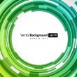 Abstract color technology circles. Vector — Imagens vectoriais em stock